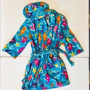 Ocean theme kids bathrobe